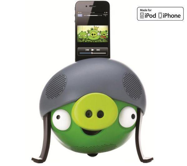 Högtalarsystem Angry Birds Green Pig     iPhone, iPod