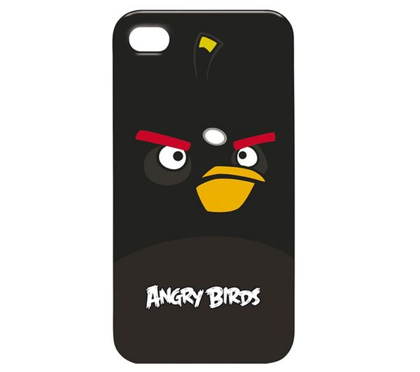 Skyddsfodral Angry Birds – svart  för iPhone 4/4S